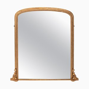 Antique Gilded Overmantle Mirror, 1895