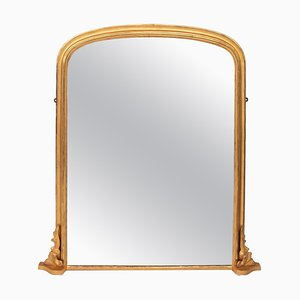 Antique Gilded Overmantle Mirror, 1896