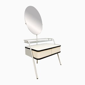 Vintage Dutch Oval Dressing Table from Auping, 1950s