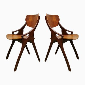 Danish Teak Dining Chairs by Arne Olsen Hovmand for Mogens Kold, 1960s, Set of 4