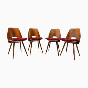 Mid-Century Dining Chairs by Frantisek Jirak for Tatra Praven, 1960s, Set of 4