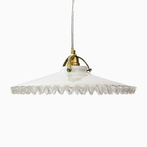 French Frilled Pendant Light