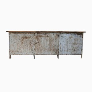 Mid-Century Metal Workbench Sideboard