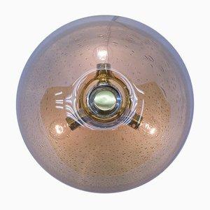 Vintage Deckenlampe aus Glas von WILA, 1970er