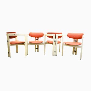 Italian Model Pamplona Dining Chairs by Augusto Savini for Giuseppe Pozzi, 1960s, Set of 4