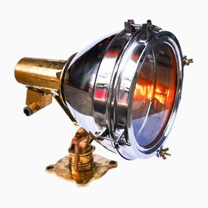 English Navy Searchlight Table Lamp, 1960s