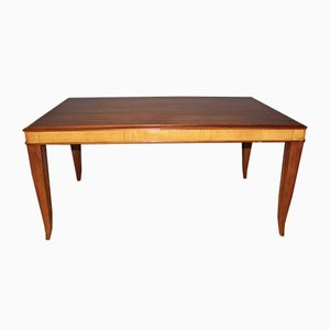 Art Deco Mahogany and Maple Dining Table, 1940s