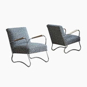 Bauhaus Style Armchairs from Wschód Zadziele, 1950s, Set of 2