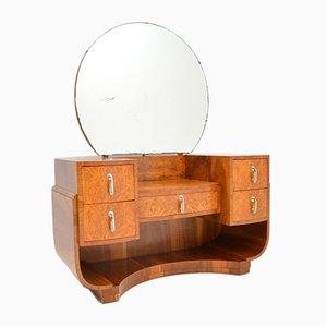 Art Deco Burl Walnut Dressing Table, 1920s