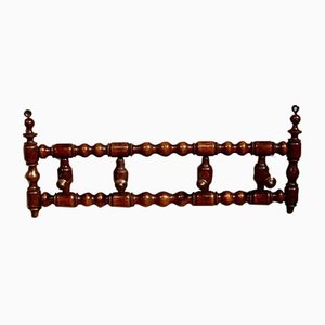 Victorian French Bobbin Turned Wall Mounted Hat Rack