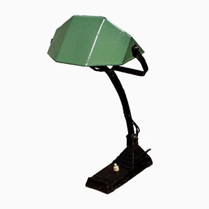 Art Deco French Enamel Table Lamp, 1930s
