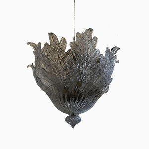 Lampada da soffitto Mid-Century in vetro di Murano di Barovier & Toso