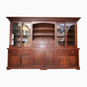 Large Teak Cabinet with Sliding Doors