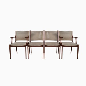 Chaises de Salon par Johannes Andersen pour Uldum Mobelfabrik, Set de 4