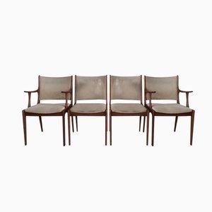 Teak Esszimmerstühle von Johannes Andersen für Uldum Mobelfabrik, 4er Set