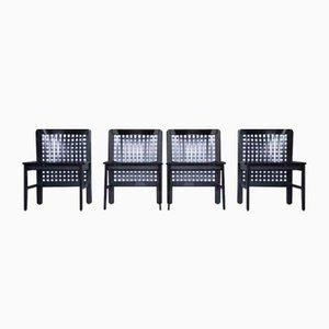 Vintage Dining Chairs by Titina Ammannati & Giampiero Vitelli for Pozzi and Verga, Set of 4
