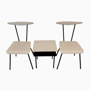 Mid-Century Model Dress Boy Side Chairs and Coffee Table Set by Wim Rietveld for Auping