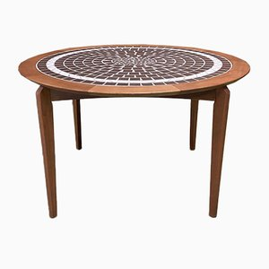 Tiled Teak Dining Table, 1990s