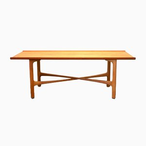 Teak and Oak Model Carmel Coffee Table by Folke Ohlsson for Bodafors, 1960s