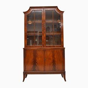 Antique Mahogany Glazed Bookcase, 1920s