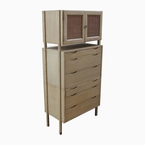 Vintage Painted Kitchen Cupboard with Drawers, 1960s