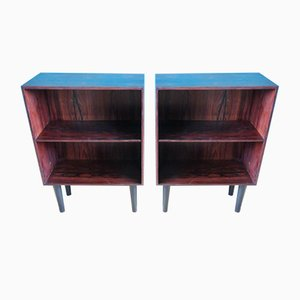 Danish Rosewood Nightstands by Poul Hundevad, 1960s, Set of 2