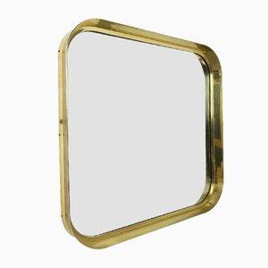 Mid-Century German Brass Mirror from Vereinigte Werkstätten München