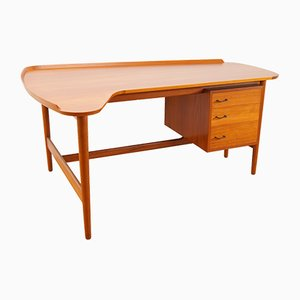 Teak Model BO85 Desk by Arne Vodder for Bovirke, 1950s