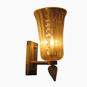 Lámpara de pared italiana de cristal de Murano
