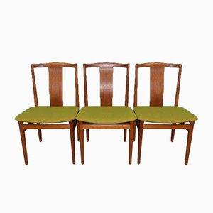Mid-Century Danish Teak Dining Chairs, Set of 3