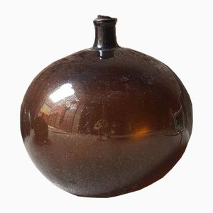 Large Antique Blown Glass Bottle