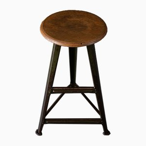 Vintage Industrial Stool from Rowac, 1920s