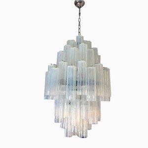 Lámpara de araña Tronchi Sputnik italiana de cristal de Murano doble de Italian Light Design