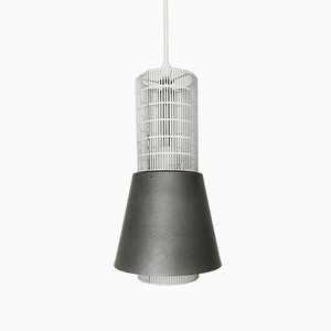 Perforated Metal Pendant Lamp, 1950s