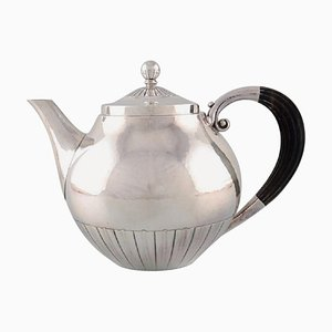 Kosmos Teapot in Sterling Silver by Johan Rohde for Georg Jensen, 1940s