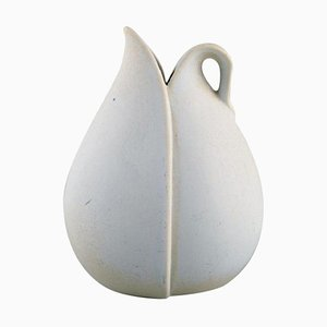 Vase with Handle in Glazed Ceramic by Stig Lindberg for Gustavsberg, 1950s