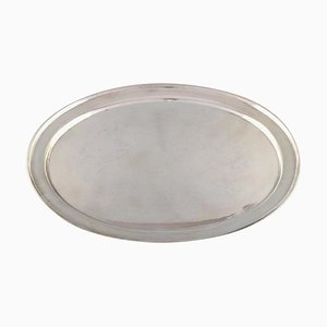 Large Georg Jensen Serving Tray in Sterling Silver, 1940s
