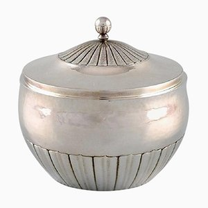 Kosmos Sugar Bowl in Sterling Silver by Johan Rohde for Georg Jensen, 1940s