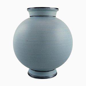 Ceramic Vase with Turquoise Glaze by Wilhelm Kåge for Gustavsberg