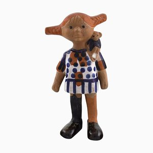 Pippi Longstocking Figurine by Lisa Larsson for Gustavsberg, Sweden, 1970s