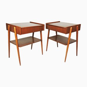 Mid-Century Teak Nightstands from Carlström & Co Möbelfabrik, Set of 2