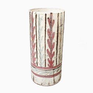 Französische Keramikvase von Gustave Reynaud für Le Mûrier, 1950er