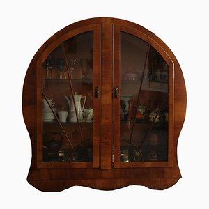 Art Deco Round Radio Cabinet, 1920s