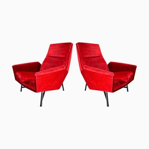 Lounge chairs by Guy Besnard, France, 1959, Set of 2