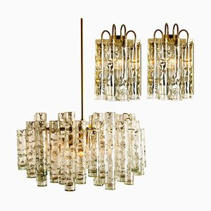 Brass Light Fixtures by Doria Leuchten Germany, 1960s, Set of 3