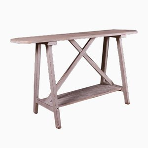 French Potboard Trestle Table, 1890s