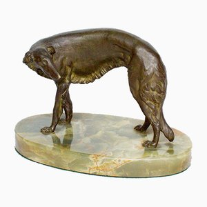 Borzoi Sculpture by Wilhelm Bormann, 1920s