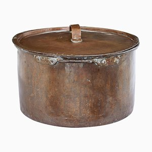 19th Century Copper Cooking Pot with Lid