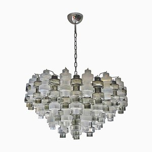 Murano Manubri Glass Chandelier, 1980s