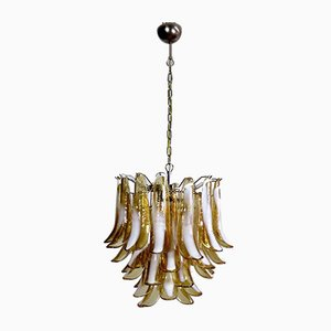 Vintage Italian Murano Glass Lattimo Ceiling Lamp from Mazzega, 1970s